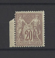 FRANCE. YT   N° 67  Neuf **   1876 - 1876-1878 Sage (Typ I)