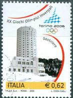 ITALIA, ITALIE, GIOCHI OLIMPICI INVERNALI, 2005, 0,62 €, FRANCOBOLLO USATO Mi.: IT 3026,  Scott:IT 2661 - 2001-10: Usados