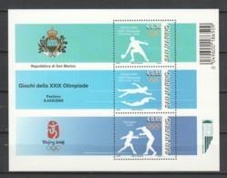 San Marino 2008 Mi Block 40 MNH SUMMER OLYMPICS BEIJING 2008 - Verano 2008: Pékin