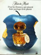"""PUB PARFUM """" FLEURS Du MONDE  """" De  """" FABERGE   """"   1973  ( 1 ) - Other"""