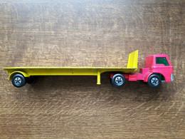 Matchbox Super Kings FORD TRACTOR K 20 Tasker Transporter, Lesney, 1971, Defekt - Toy Memorabilia