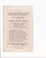 Doodsprentje / Image Mortuaire - Joannes Josephus Saepens - Verdronken 1862 - Todesanzeige