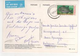 """Beau Timbre , Stamp """" Poisson """" Sur Cp , Carte , Postcard Du 05/08/1994 Pour La France - Namibia (1990- ...)"""