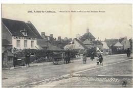 CPA   AINAY Le CHATEAU   Place De La Halle ,et Vue Sur Les Anciens Fossés   N° 2088 - Autres Communes