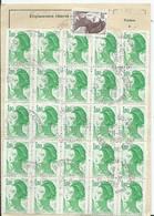 FRANCE -  ORDRE DE RÉEXPÉDITION TEMPRAIRE - Affranchissement TYPE LIBERTE - Documents Of Postal Services