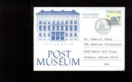"1973: Postkarte ""Postmuseum"", 65 ö  Als FDC Des Postmuseums - Ganzsachen"