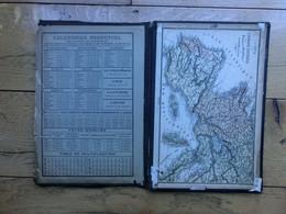 Pochette Cartonnée Avec Soufflet, Calendrier Perpétuel, Fêtes Mobiles 1886 à 1889, Carte Europe Centrale - Other