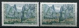 21293 FRANCE N°1436e**(Cérés) 50c. Moustiers Ste Marie : Câble Coupé + Normal (non Fourni)   1965  TB - Varieties: 1960-69 Mint/hinged