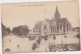 Vilvoorde - Chastel-Andelotplein + Kerk (gelopen Kaart Met Zegel) - Vilvoorde