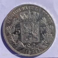 5 FRANCS 1874 BELGIQUE LEOPOLD II ROI DES BELGES - Non Classificati