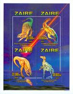 ZAIRE 1996 - Animaux Préhistoriques - 4 Timbres émis En Bloc - Dentelé - 1990-96: Ongebruikt
