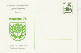 "[1312] Bundesrepublik Deutschland - 1975 - Privatpostkarte Asperga 76"" ** / € 0.90 - Private Postcards - Mint"