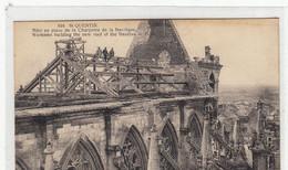 02- Saint Quentin  Mise En Place De La Charpente  De La Basilique  Avec Animation - Saint Quentin