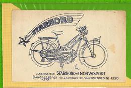 Buvard & Blotting Paper : Constructeur STARNORD Et NOVASPORT Valenciennes Mobylette Cyclomoteur - Bikes & Mopeds