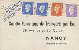 France Carte Postale Marianne De Dulac  Tarif A 1.50 Fr - 1921-1960: Modern Period