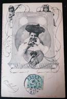 Cpa Montage. Illustrateur Ch. SCOLIK. Sockl. Wien. Femme Artiste. Art Nouveau. - Scolik, Charles
