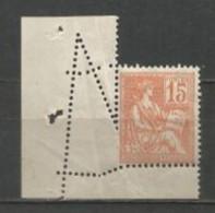 France - Curiosité De Dentelure - Mouchon N°117* - Curiosities: 1900-20 Mint/hinged