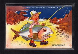 (05/04/21) 14-CPA VILLERVILLE SUR MER - CARTE A SYSTEME - Villerville