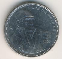 MEXICO 1984: 1 Peso, KM 496 - Mexico
