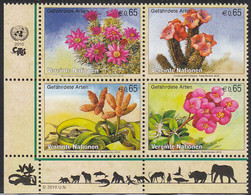 United Nations Vienna 2010 MNH Sc #469a Block Of 4 Plants Endangered Species - Nuevos