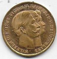Médaille Wilhelm II Kaiser , Victoria Kaiserin - Unclassified