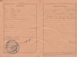 1942 ARMÉE D'ARMISTICE - Rengagé Pour 1 An Au 2° Rgt. De ZOUAVES - LIVRET Mre De Jean MARTEL Classe 1936 - Documentos Históricos
