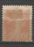 France - Semeuse N°138 * Et (*)partiel - Impression Au Verso Avec Décalage - Curiosities: 1900-20 Mint/hinged