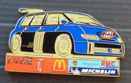 1 PINS RENAULT ESPACE F1, MICHELIN, MAC DO, COCA COLA, MEDIAS, Mesure 6 Cm - Renault