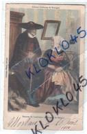 29 Homme De Landivisiau Et Artisane De Morlaix ( Folklore ) Anciens Costumes De Bretagne - CPA Couleur 1911 Généalogie - Landivisiau