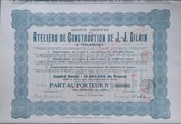 Ateliers De Construction De J.J. GILAIN Belgisch Spoor 1924 TIRLEMONT - Ferrocarril & Tranvías
