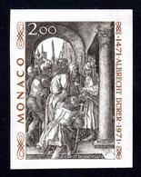 MONACO 1972 - Yvert N° 876 Non Dentelé NEUF** LUXE/MNH, Albrecht Dürer, TB - Nuevos