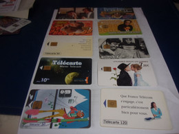 LOT DE 10 TELECARTES  Lot 3 - Collections