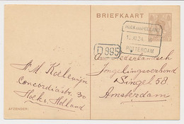 Treinblokstempel : Hoek Van Holland - Rotterdam III 1924 - Ohne Zuordnung