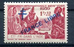Inde Yvert 175 France Libre Neuf TC  - T 1043 - Nuovi