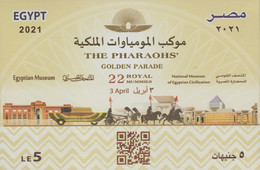 Egypt - 2021 - NEW - S/S - ( THE PHARAOHS Golden Parade - 3 April 2021 ) - MNH (**) - Unused Stamps