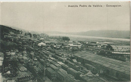 Tarjeta Postal   Concepcion  La Estacion  De Carga  Avenida Pedro De Valdivia   Ed Juan Bouquet Rives - Chile
