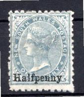 NOUVELLE GALLES DU SUD - (Colonie Britannique) - 1891 - N° 69 - 1/2 P. S. 1 P. Gris - (Victoria) - Mint Stamps