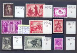Lot Variëteiten MH *  95 Côte 703-V2 + 624-V2 + 1090-V2 + 517-V1 + 697-V4 + 587-V2 + 415-V + 592-V + 445-V1 - Abarten (Katalog COB)