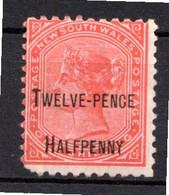 NOUVELLE GALLES DU SUD - (Colonie Britannique) - 1891 - N° 71 - 12 1/2 P. S. 1 S. Rouge - (Victoria) - Mint Stamps