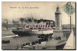 CPA Marseille Le Phare Sainte Marie Bateau - Old Port, Saint Victor, Le Panier
