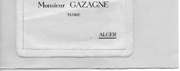 H0504 - Monsieur GAZAGNE - MAIRE - ALGER - Déjeuner Offert Le 29 Mai 1949 - Otros