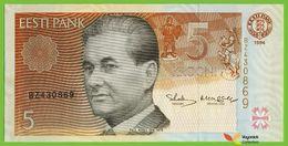 Voyo ESTONIA 5 Krooni 1994(1997) P76a B219a Prefix BZ UNC Paul Keres - Estonia