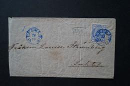 Finland Envelope, Sent From Ekenäs In Finland ToLahti In 1881 - Gebraucht