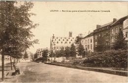 Leuven  Graanmarkt En De Bibliotheek Van De Universiteit. - Leuven
