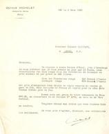 Lettre D'Octave Michelet, Produits Potin à Pau, 1922, Envoi D'échantillons De Jurançon Rouge Et De Clos Des Pierrettes - Landbouw