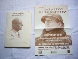 Dossier Historique De Lattre De Tassigny Biographie Textes Et Photos Environ 100 Pages + 1 Affiche - Documenti