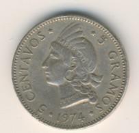 DOMINICANA 1974: 5 Centavos, KM 18 - Dominicana