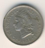 DOMINICANA 1973: 10 Centavos, KM 19a - Dominicana