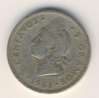 DOMINICANA 1961: 5 Centavos, KM 18 - Dominicana