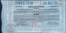 Chemin De Fer Par Jura 1858 ! - Ferrocarril & Tranvías